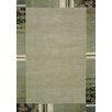 Theko Everest Hand-Knotted Green Rug
