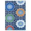 Theko Handgewebter Teppich Happy Colour in Blau