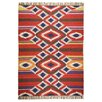 Theko Kelim-Royal Hand-Woven Red Rug