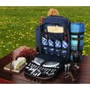 Picnic Pack USA 4 Person Picnic Backpack with Insulated Cooler and Plaid Blanket