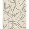 "Washington Wallcoverings Barbara Becker Home Passion 33' x 20.5"" Accent Reed Botanical Embossed Wallpaper"
