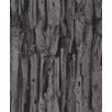 "Washington Wallcoverings African Queen II 33' x 20.5"" Wood Log Embossed Wallpaper"