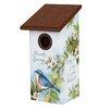 Spread a Little Happiness 12.5 inch x 6 inch x 6 inch Bluebird House - Studio M Birdhouses