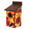 Sunflower Delight 12.5 inch x 7 inch x 7 inch Birdhouse - Studio M Birdhouses