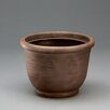 Resin Pot Planter - Color: Rust, Size: 11 inch High x 13.75 inch Wide x 13.75 inch Deep - Crescent Garden Planters
