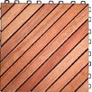 "Vifah Acacia Hardwood 11.22"" x 11.22"" Interlocking Deck Tile"