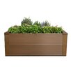 2.5 ft x 2.5 ft Composite Raised Garden - Color: Peruvian Teak, Size: 8 inch High x 28.8 inch Wide x 28.8 inch Wide - New Tech Wood Planters