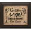 Classy Art Wholesalers God Bless Our Home by Donna Atkins Framed Graphic art