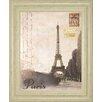 Classy Art Wholesalers Paris Travelogue by Ben James Framed Graphic Art