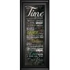 Classy Art Wholesalers 'Time For Everything' by Maria Rae Framed Textual Art