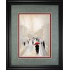 Classy Art Wholesalers 'Misty in Paris' by Tava Studios Framed Painting Print