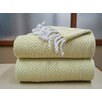 Affinity Linens Elegancia 2 Piece 100% Cotton Diamond Weave Throw Set