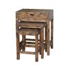 ZallZo Handmade Larry, Curly and Moe 3 Piece Nesting Tables