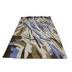 ZallZo Safari Blue and Brown Area Rug
