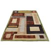 ZallZo Hand Tufted Multi-colored  Area Rug