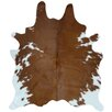 Deco Hides Natural Cowhide Brown/White Area Rug