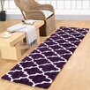 Affinity Home Collection Casa Platino Purple Area Rug