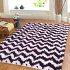 Affinity Home Collection Hand-Woven Plum Area Rug