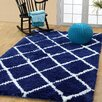 Affinity Home Collection Hand-Woven Navy Area Rug