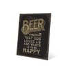 Click Wall Art Beer is Proof That God Loves Us Textual Art Plaque in Brown
