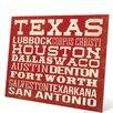 Click Wall Art Texas Cities Textual Art Plaque
