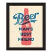 Click Wall Art Beer Man's Best Friend Framed Textual Art
