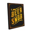 Click Wall Art Beer Snob Textual Art on Wrapped Canvas