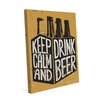 Click Wall Art Keep Calm and Drink Beer Six Pack Graphic Art on Wrapped Canvas