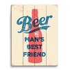 Click Wall Art Beer Man's Best Friend Graphic Art Plaque in Red And Blue