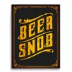 Click Wall Art Beer Snob Textual Art Plaque