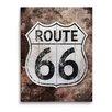 "Click Wall Art ""Rustic Route 66"" Memorabilia on Plaque"