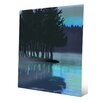 Click Wall Art 'Sunrise Over River' Painting Print