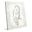 Click Wall Art 'Gestural Horse Somber Aqua' Painting Print
