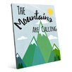 Click Wall Art 'The Mountains Are Calling' Textual Art