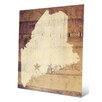 Click Wall Art 'Maine Rustic' Graphic Art
