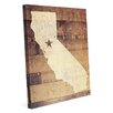Click Wall Art 'California Rustic' Graphic Art on Wrapped Canvas