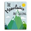 Click Wall Art 'The Mountains Are Calling' Textual Art on Plaque