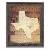Click Wall Art 'Texas Rustic' Framed Graphic Art