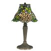 """Dale Tiffany Trevor 17.5"""" H Table Lamp with Bell Shade"""