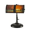 """Dale Tiffany Egyptian 14"""" H Table Lamp with Rectangular Shade"""