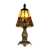 """Dale Tiffany Cavan Tiffany Accent 12.75"""" H Table Lamp with Empire Shade"""