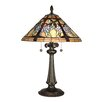 """Dale Tiffany Floral Branch Tiffany 26"""" H Table Lamp with Cone Shade"""