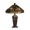 "Dale Tiffany Dragonfly Jewel Tiffany 13.5"" H Table Lamp with Empire Shade"