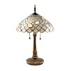 "Dale Tiffany Tiffany Shells 26"" H Table Lamp with Bowl Shade"