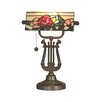 """Dale Tiffany Broadview Bankers 16.25"""" H Table Lamp with Rectangular Shade"""