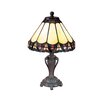 """Dale Tiffany Peacock 13.5"""" H Table Lamp with Empire Shade"""