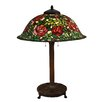 "Dale Tiffany Rose Bush 31.5"" H Table Lamp with Bowl Shade"