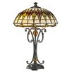 """Dale Tiffany Converse 24.8"""" H Table Lamp with Bowl Shade"""
