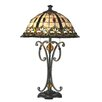 "Dale Tiffany Florence 24.8"" H Table Lamp with Bell Shade"