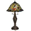 "Dale Tiffany Leia 23"" H Table Lamp with Bell Shade"